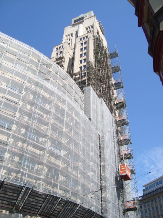 Ebonex, impressed current system to do cathodic protection of KBC tower in Antwerp