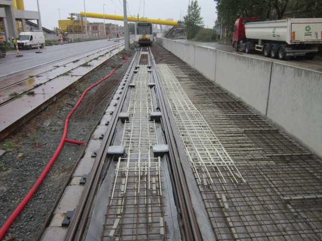 Aslan GFRP rebars for tramways